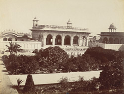 Khas Mahal, Agra Fort [with Anguri Bagh in the foreground].
